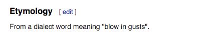 faffing etymology